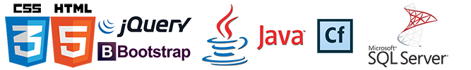 css html JQUERY bootstrap java sql